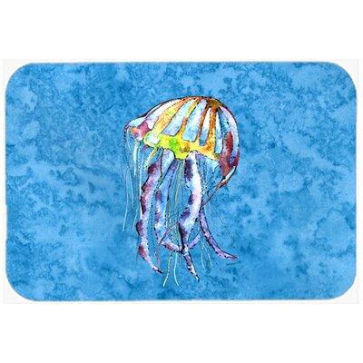 "Jellyfish Kitchen/Bath Mat Size: 24"" H x 36"" W x 0.25"" D"