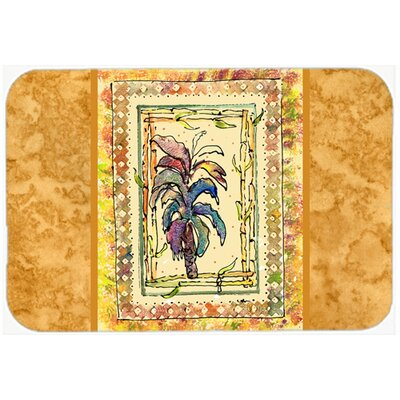 "Palm Tree Kitchen/Bath Mat Size: 24"" H x 36"" W x 0.25"" D"