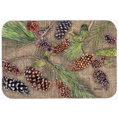 "Pine Cones Kitchen/Bath Mat Size: 20"" H x 30"" W x 0.25"" D"