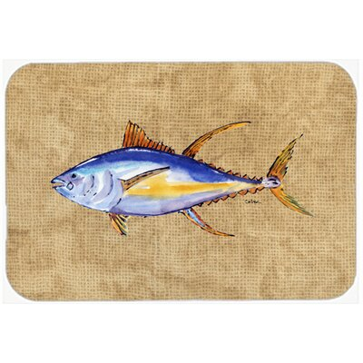 "Tuna Fish Kitchen/Bath Mat Size: 20"" H x 30"" W x 0.25"" D"