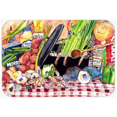 "Gumbo and Potato Salad Kitchen/Bath Mat Size: 20"" H x 30"" W x 0.25"" D"
