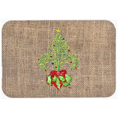 "Christmas Tree Fleur De Lis Kitchen/Bath Mat Size: 20"" H x 30"" W x 0.25"" D"