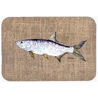 "Fish Tarpon Kitchen/Bath Mat Size: 24"" H x 36"" W x 0.25"" D"