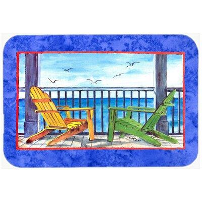 """Adirondack Chairs Kitchen/Bath Mat Size: 24"""" H x 36"""" W x 0.25"""" D, Color: Blue"""