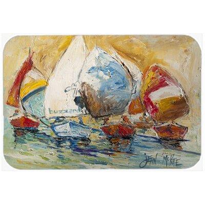 "Buzzards Sailboat Race Kitchen/Bath Mat Size: 24"" H x 36"" W x 0.25"" D"
