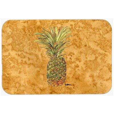 """Pineapple Kitchen/Bath Mat Size: 24"""" H x 36"""" W x 0.25"""" D"""