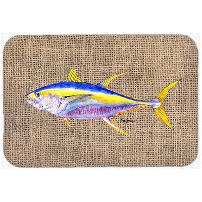 "Fish Tuna Kitchen/Bath Mat Size: 24"" H x 36"" W x 0.25"" D"