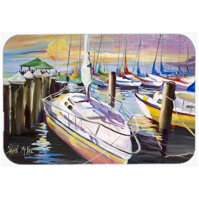 "Sailboats At The Fairhope Yacht Club Docks Kitchen/Bath Mat Size: 24"" H x 36"" W x 0.25"" D"