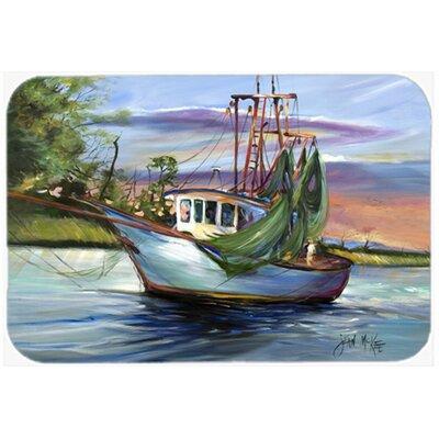 """Jeannie Shrimp Boat Kitchen/Bath Mat Size: 24"""" H x 36"""" W x 0.25"""" D"""