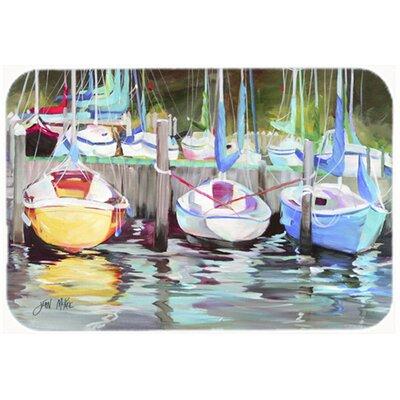 "Boat Sailboat Kitchen/Bath Mat Size: 20"" H x 30"" W x 0.25"" D"