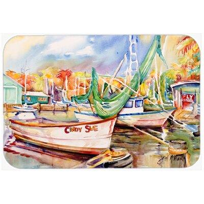 "Sailboat Cindy Sue Kitchen/Bath Mat Size: 20"" H x 30"" W x 0.25"" D"