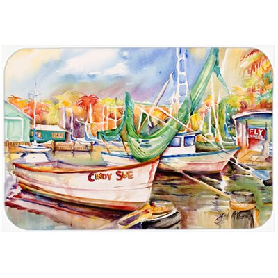 "Sailboat Cindy Sue Kitchen/Bath Mat Size: 24"" H x 36"" W x 0.25"" D"