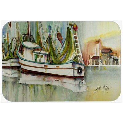 "Ocean Springs Shrimper Kitchen/Bath Mat Size: 24"" H x 36"" W x 0.25"" D"