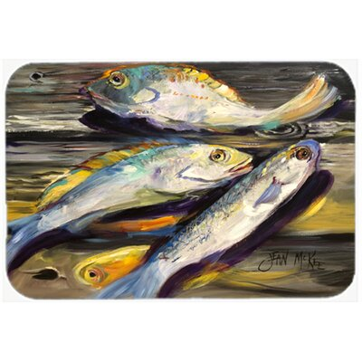 "Fish on The Dock Kitchen/Bath Mat Size: 24"" H x 36"" W x 0.25"" D"
