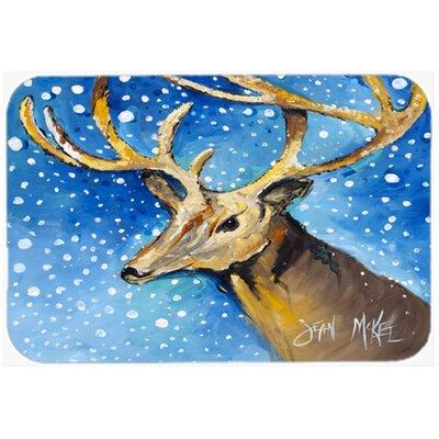 """Reindeer Kitchen/Bath Mat Size: 20"""" H x 30"""" W x 0.25"""" D"""