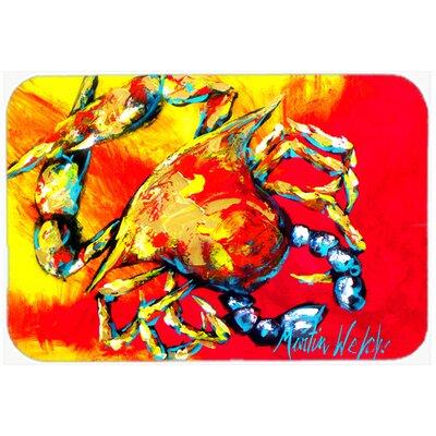 "Crab Hot Dang Kitchen/Bath Mat Size: 20"" H x 30"" W x 0.25"" D"