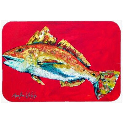 """Fish Woo Hoo Kitchen/Bath Mat Size: 20"""" H x 30"""" W x 0.25"""" D"""