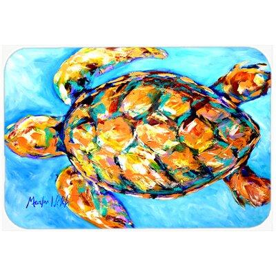 "Sand Dance Turtle Kitchen/Bath Mat Size: 20"" H x 30"" W x 0.25"" D"