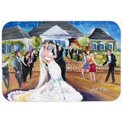 "Our Wedding Day Kitchen/Bath Mat Size: 24"" H x 36"" W x 0.25"" D"