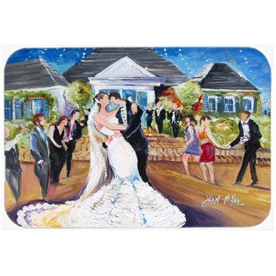 "Our Wedding Day Kitchen/Bath Mat Size: 24"" H x 36"" W x 0.25"" D"