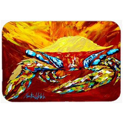 "Crab Buster Kitchen/Bath Mat Size: 20"" H x 30"" W x 0.25"" D"