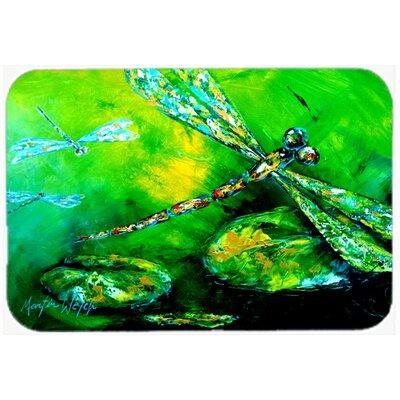 """Dragonfly Summer Flies Kitchen/Bath Mat Size: 24"""" H x 36"""" W x 0.25"""" D"""