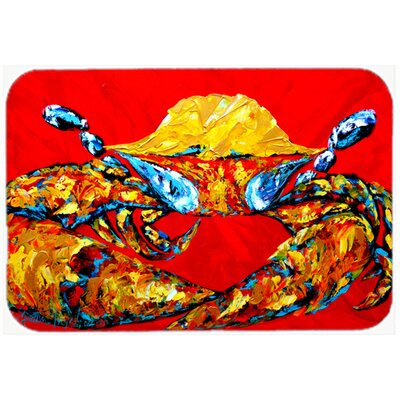 "Crab Fat and Sassy Kitchen/Bath Mat Size: 24"" H x 36"" W x 0.25"" D"