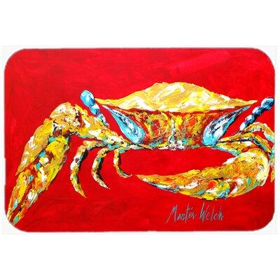 "Crab Sr. Kitchen/Bath Mat Size: 20"" H x 30"" W x 0.25"" D"