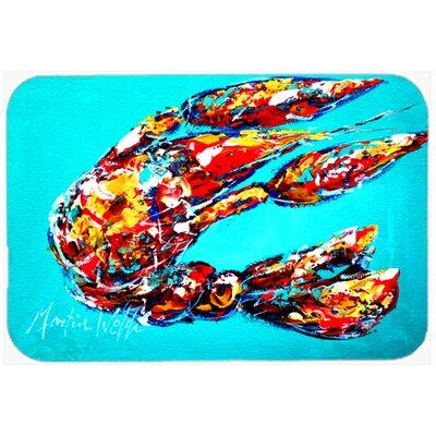 "Lucy The Crawfish Kitchen/Bath Mat Size: 24"" H x 36"" W x 0.25"" D"