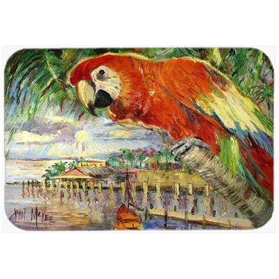 "Parrot At Lulu's Kitchen/Bath Mat Size: 24"" H x 36"" W x 0.25"" D"