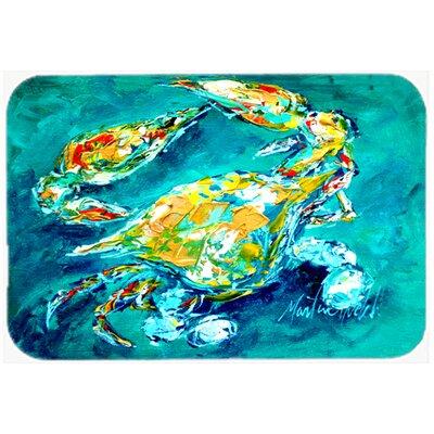 """By Chance Crab Kitchen/Bath Mat Size: 24"""" H x 36"""" W x 0.25"""" D"""