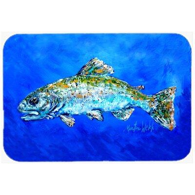 """Fish Headed Downstream Kitchen/Bath Mat Size: 20"""" H x 30"""" W x 0.25"""" D"""
