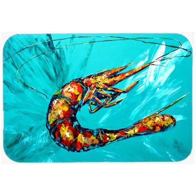 """Shrimp Teal Shrimp Kitchen/Bath Mat Size: 24"""" H x 36"""" W x 0.25"""" D"""