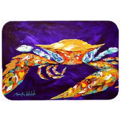 """The Right Stuff Crab In Purple Kitchen/Bath Mat Size: 24"""" H x 36"""" W x 0.25"""" D"""