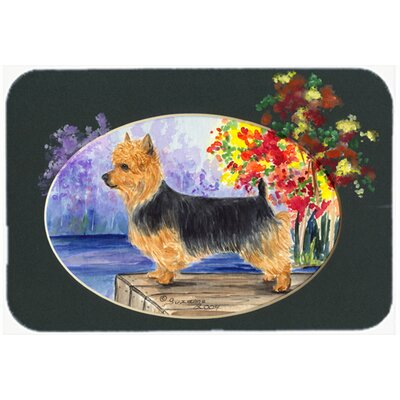 "Australian Terrier Kitchen/Bath Mat Size: 24"" H x 36"" W x 0.25"" D"