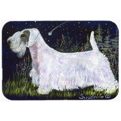 """Sealyham Terrier Kitchen/Bath Mat Size: 20"""" H x 30"""" W x 0.25"""" D"""