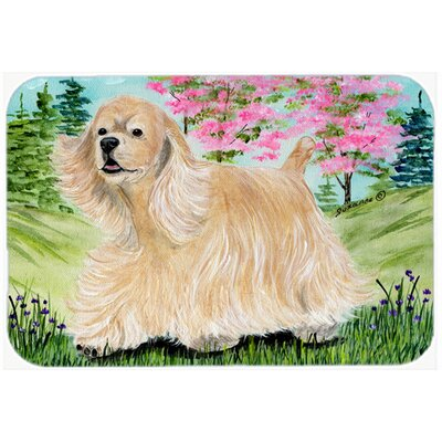 "Cocker Spaniel Kitchen/Bath Mat Size: 24"" H x 36"" W x 0.25"" D"