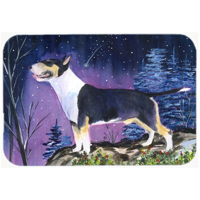 "Bull Terrier Kitchen/Bath Mat Size: 20"" H x 30"" W x 0.25"" D"