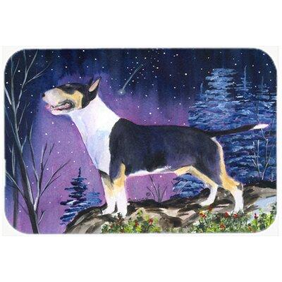 "Bull Terrier Kitchen/Bath Mat Size: 24"" H x 36"" W x 0.25"" D"