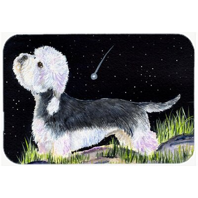 Starry Night Dandie Dinmont Terrier Kitchen/Bath Mat