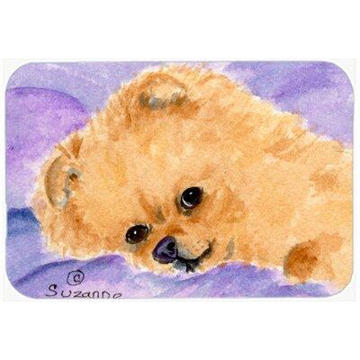 """Pomeranian Kitchen/Bath Mat Size: 24"""" H x 36"""" W x 0.25"""" D"""