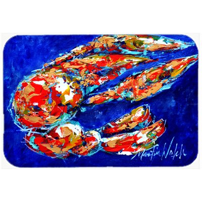 "Craw Momma Crawfish Kitchen/Bath Mat Size: 20"" H x 30"" W x 0.25"" D"