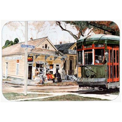 "New Orleans Streetcar Kitchen/Bath Mat Size: 20"" H x 30"" W x 0.25"" D"
