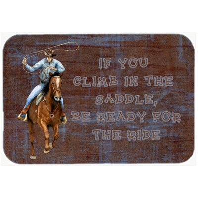 """Roper Horse If You Climb In The Saddle, Be Ready For The Ride Kitchen/Bath Mat Size: 24"""" H x 36"""" W x 0.25"""" D"""