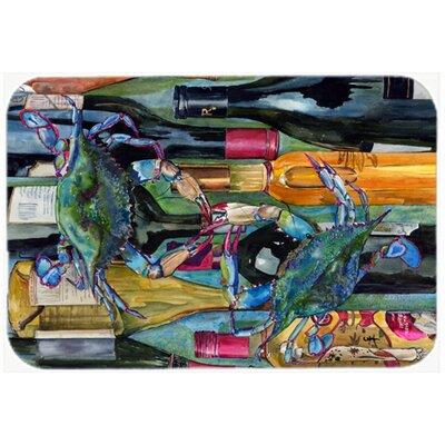 "Crabby We Bottles Kitchen/Bath Mat Size: 20"" H x 30"" W x 0.25"" D"
