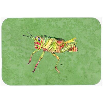 """Grasshopper on Avacado Kitchen/Bath Mat Size: 24"""" H x 36"""" W x 0.25"""" D"""