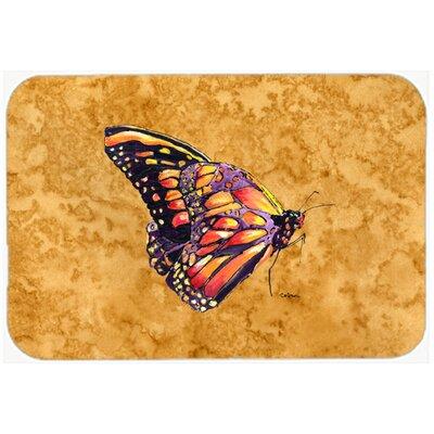 "Butterfly Kitchen/Bath Mat Size: 20"" H x 30"" W x 0.25"" D"