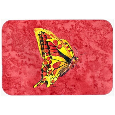 "Butterfly Kitchen/Bath Mat Size: 20"" H x 30"" W x 0.25"" D"