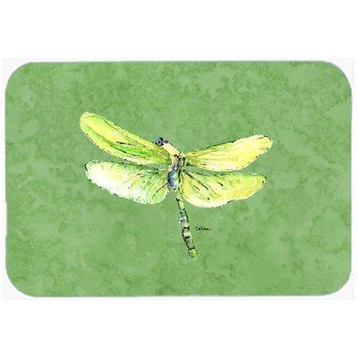 "Dragonfly on Avacado Kitchen/Bath Mat Size: 20"" H x 30"" W x 0.25"" D"