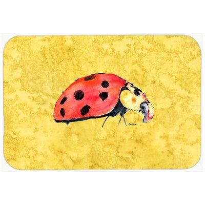 """Lady Bug Kitchen/Bath Mat Size: 24"""" H x 36"""" W x 0.25"""" D"""